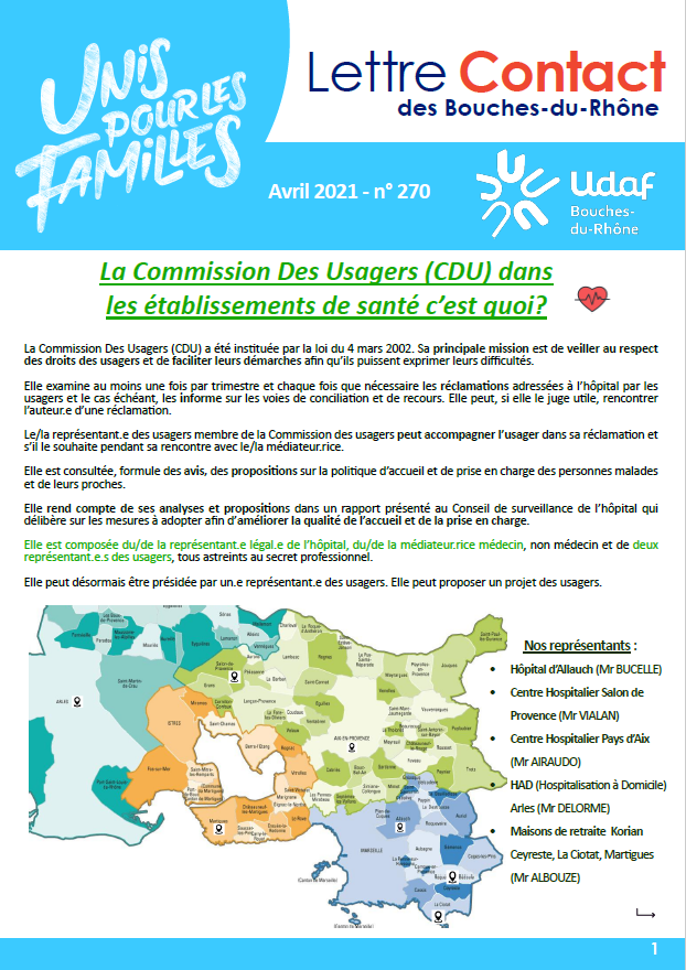 LETTRE CONTACT AVRIL 2021